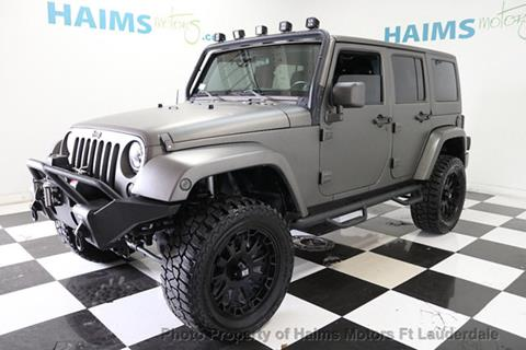 2011 Jeep Wrangler Unlimited for sale in Lauderdale Lakes, FL