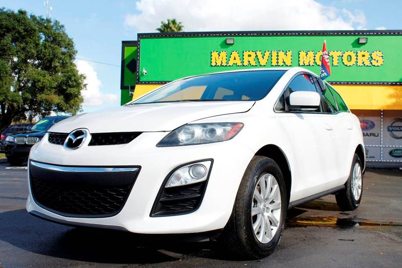 2012 MAZDA CX-7 I SPORT 4DR SUV white the front windshield is in excellent condition the paint i