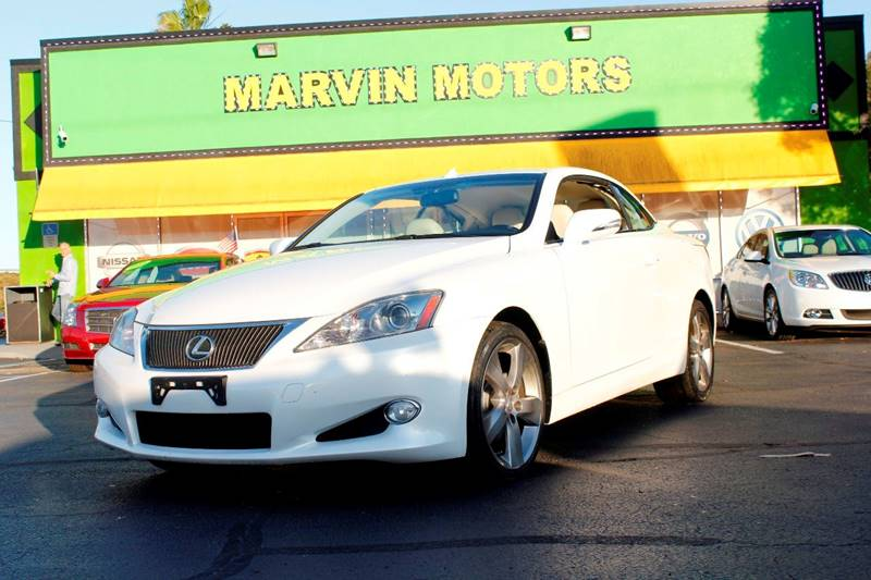 2010 LEXUS IS 250C BASE 2DR CONVERTIBLE 6A white internet cash special guaranteed fina