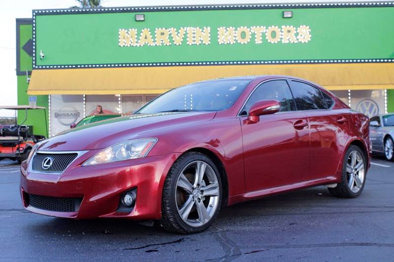 2011 LEXUS IS 250 BASE 4DR SEDAN 6A red internet cash special guaranteed financing av