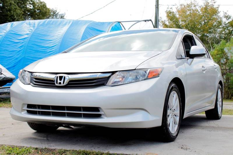 2012 HONDA CIVIC EX 4DR SEDAN silver the front windshield is in excellent condition the paint is