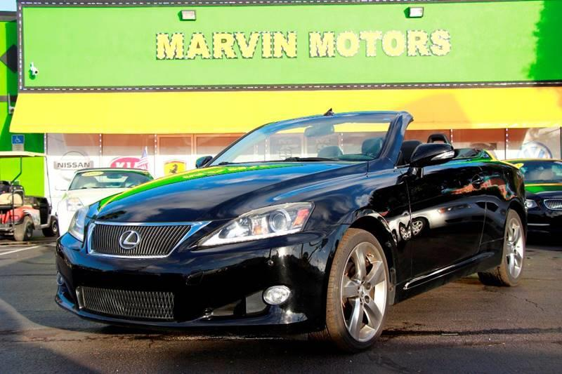 2011 LEXUS IS 250C BASE 2DR CONVERTIBLE 6A black the front windshield is in excellent condition