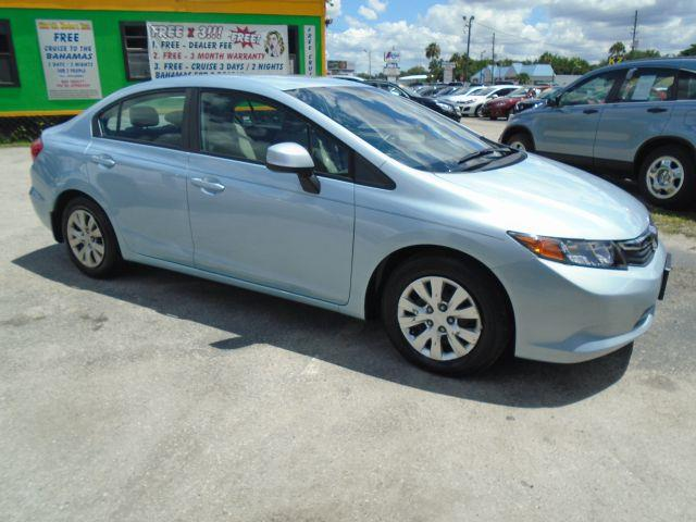 2012 HONDA CIVIC LX 4DR SEDAN 5A turquoise internet cash special guaranteed financing