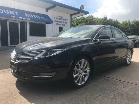 2015 Lincoln MKZ Hybrid for sale at Discount Auto Company in Houston TX