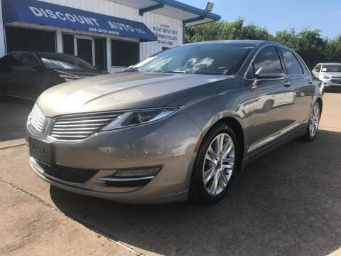 2016 Lincoln MKZ for sale at Discount Auto Company in Houston TX