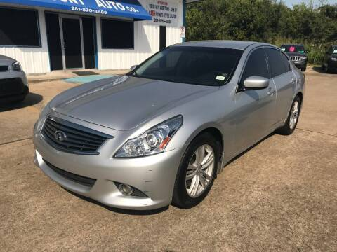 2012 Infiniti G25 Sedan for sale at Discount Auto Company in Houston TX