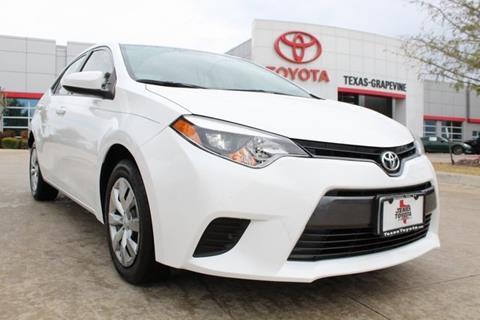 2016 Toyota Corolla for sale in Grapevine, TX