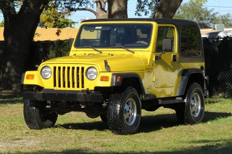 2001 Jeep Wrangler for sale in Hollywood, FL