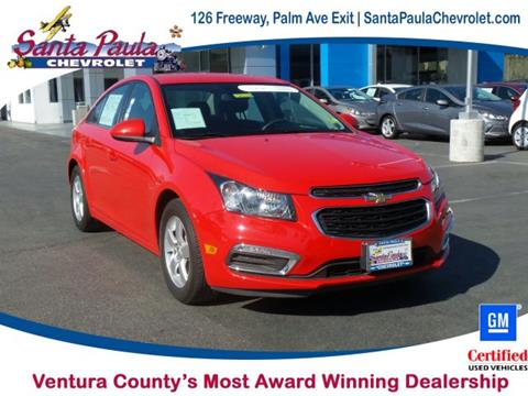 2016 Chevrolet Cruze Limited for sale in Santa Paula CA