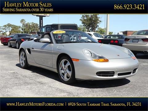2002 Porsche Boxster for sale at Hawley Motor Sales in Sarasota FL