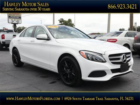 2015 Mercedes-Benz C-Class for sale at Hawley Motor Sales in Sarasota FL