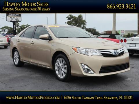 2012 Toyota Camry Hybrid for sale at Hawley Motor Sales in Sarasota FL