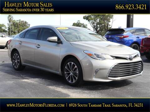 2018 Toyota Avalon for sale at Hawley Motor Sales in Sarasota FL