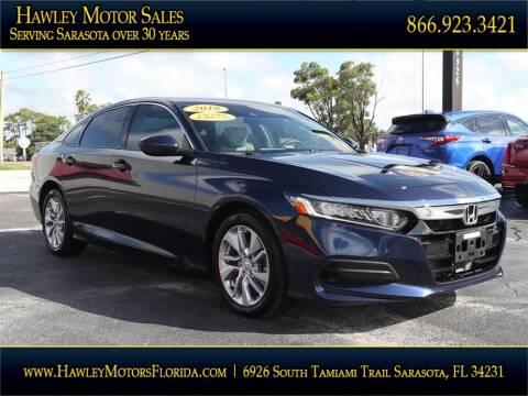 2018 Honda Accord for sale at Hawley Motor Sales in Sarasota FL