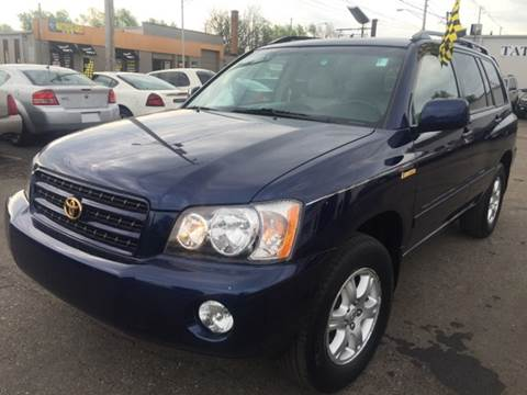 2002 Toyota Highlander for sale at Capitol Auto Sales in Lansing MI