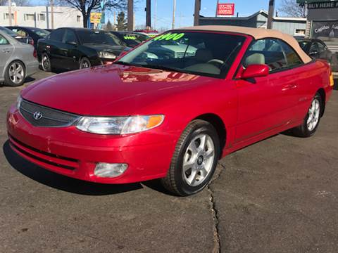 2000 Toyota Camry Solara for sale at Capitol Auto Sales in Lansing MI