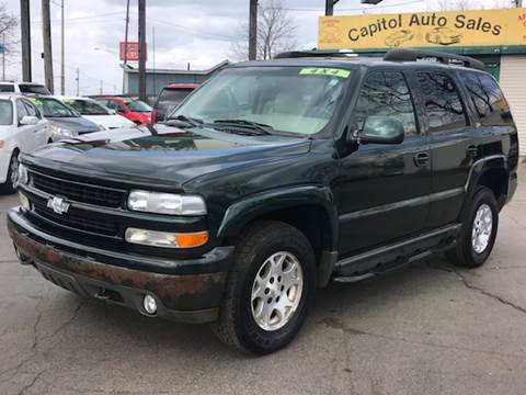 2001 Chevrolet Tahoe for sale at Capitol Auto Sales in Lansing MI