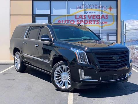 2015 Cadillac Escalade ESV for sale at Las Vegas Auto Sports in Las Vegas NV