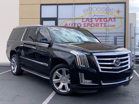 2015 Cadillac Escalade ESV for sale at Las Vegas Auto Sports in Las Vegas NV
