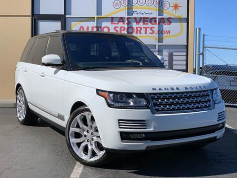 2016 Land Rover Range Rover for sale at Las Vegas Auto Sports in Las Vegas NV