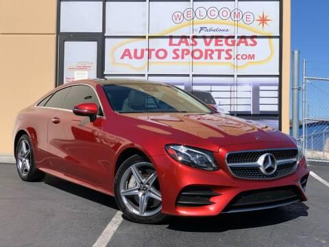 2018 Mercedes-Benz E-Class for sale at Las Vegas Auto Sports in Las Vegas NV