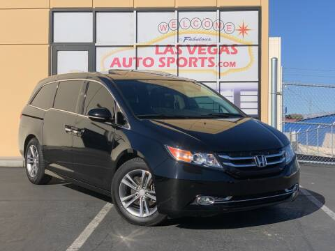 2014 Honda Odyssey for sale at Las Vegas Auto Sports in Las Vegas NV