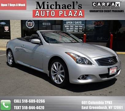 2011 Infiniti G37 Convertible for sale at Michaels Auto Plaza in East Greenbush NY