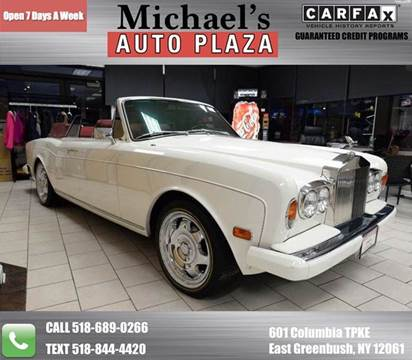 1981 Rolls-Royce Corniche for sale at Michaels Auto Plaza in East Greenbush NY