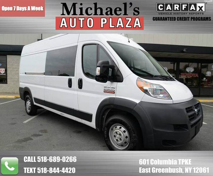 2014 RAM PROMASTER CARGO 2500 159 WB 3DR HIGH ROOF CARGO white one-owner clean carfax 2014 ra