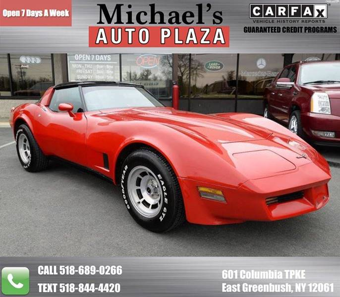 1981 CHEVROLET CORVETTE BASE red come see this 1981 chevrolet corvette coupe with a clean carfax