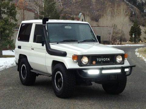 1985 Toyota Land Cruiser for sale at Sun Valley Auto Sales in Hailey ID