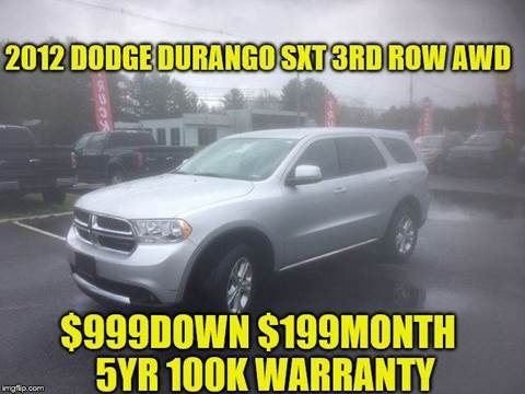 2012 Dodge Durango for sale at D&D Auto Sales, LLC in Rowley MA