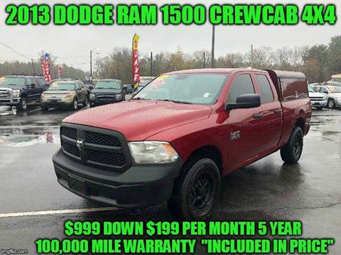 2013 Ram Ram Pickup 1500 4x4 Tradesman 4dr Quad Cab 6 3 ft