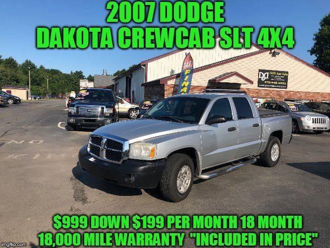 Outstanding 2007 Dodge Dakota Slt 4Dr Quad Cab 4X4 Sb In Rowley Ma Dd Machost Co Dining Chair Design Ideas Machostcouk