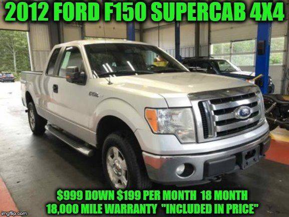 2012 Ford F 150 4x4 Xlt 4dr Supercab Styleside 6 5 Ft Sb In Rowley Ma D D Auto Sales Llc