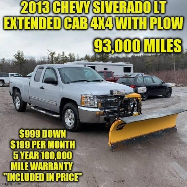 2013 Chevrolet Silverado 1500 4x4 LT 4dr Extended Cab 6.5 ft. SB - Rowley MA