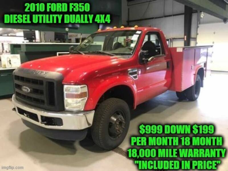 2010 Ford F-350 Super Duty 4x4 XLT 2dr Regular Cab 141 in. WB DRW Chassis - Rowley MA