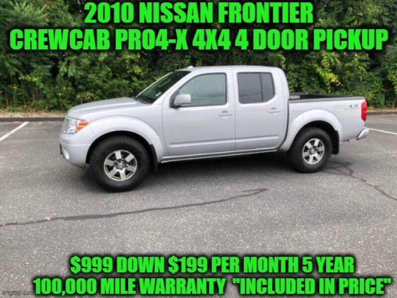 2010 Nissan Frontier 4x4 PRO-4X 4dr Crew Cab SWB Pickup 5A - Rowley MA