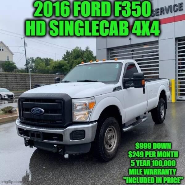 2016 Ford F-350 Super Duty 4x4 XLT 2dr Regular Cab 8 ft. LB SRW Pickup - Rowley MA