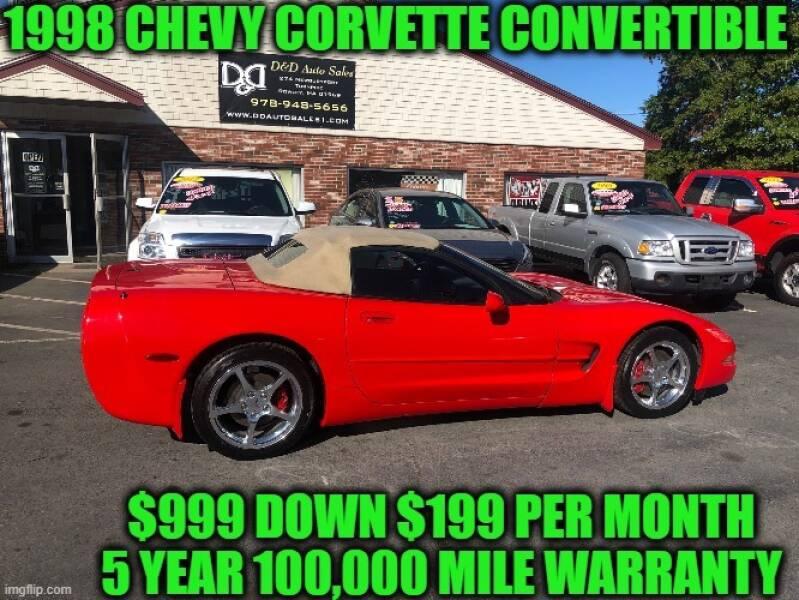 1998 Chevrolet Corvette 2dr Convertible - Rowley MA