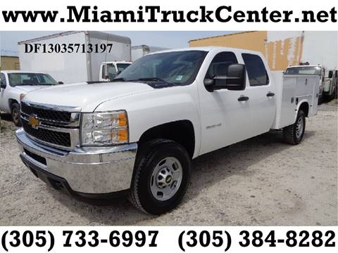 Utility service trucks for sale carsforsale 2013 chevrolet silverado 2500hd for sale in hialeah fl publicscrutiny Image collections
