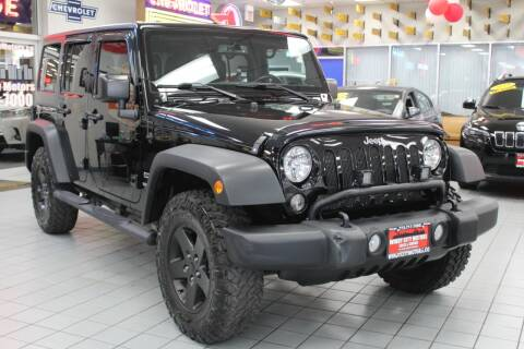 2015 Jeep Wrangler Unlimited for sale at Windy City Motors in Chicago IL