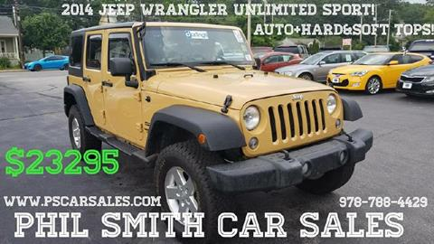 2014 Jeep Wrangler Unlimited for sale in North Chelmsford, MA