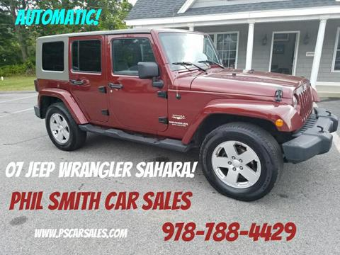 2007 Jeep Wrangler Unlimited for sale in North Chelmsford, MA