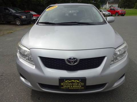 2009 Toyota Corolla for sale at MOUNTAIN VIEW AUTO in Lyndonville VT
