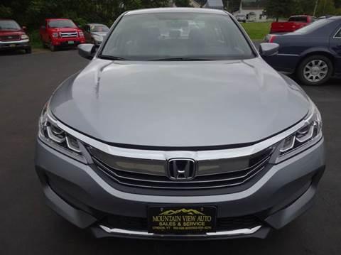 2016 Honda Accord for sale in Lyndonville, VT