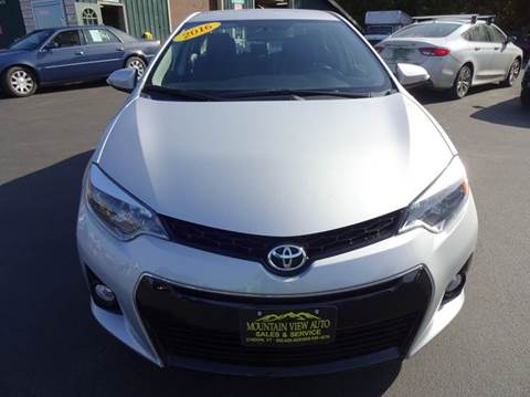2016 Toyota Corolla for sale in Lyndonville, VT