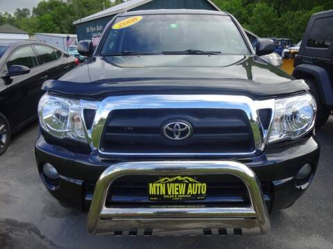 2008 Toyota Tacoma V6 for sale at MOUNTAIN VIEW AUTO in Lyndonville VT