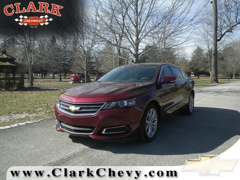 2016 Chevrolet Impala for sale at Clark Chevrolet Sales Inc in Cayuga IN