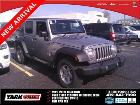 2016 Jeep Wrangler Unlimited for sale in Toledo, OH